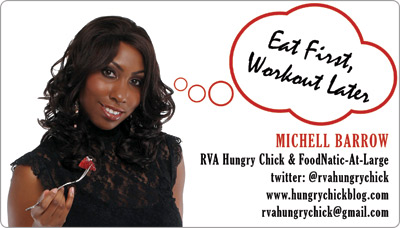 The Hungry Chick Business Card Design front view